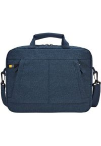 Niebieska torba na laptopa CASE LOGIC w kolorowe wzory