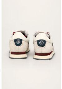 Beżowe sneakersy GANT z cholewką, na sznurówki