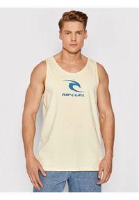 Rip Curl Tank top Surfing CTESQ5 Żółty Regular Fit. Kolor: żółty