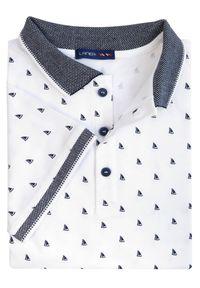 Biała koszulka polo polo, krótka