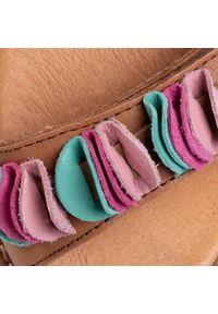 Brązowe sandały Froddo na lato, z aplikacjami