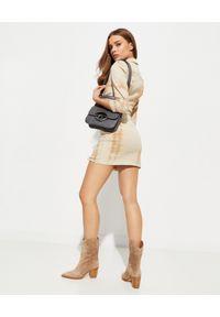 RETROFETE - Sukienka tie-dye Willa. Okazja: na imprezę. Kolor: beżowy. Materiał: bawełna. Długość: mini