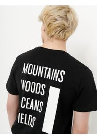 outhorn - T-shirt z nadrukiem męski. Okazja: na co dzień. Materiał: bawełna, jersey, dzianina, materiał. Wzór: nadruk. Styl: casual #3
