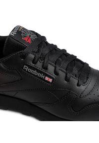 Czarne buty sportowe Reebok z cholewką, na płaskiej podeszwie