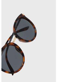 Brązowe okulary przeciwsłoneczne only gładkie