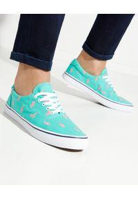 Ralph Lauren - RALPH LAUREN - Miętowe tenisówki Thorton. Nosek buta: okrągły. Kolor: zielony. Materiał: guma. Wzór: napisy, haft. Styl: klasyczny