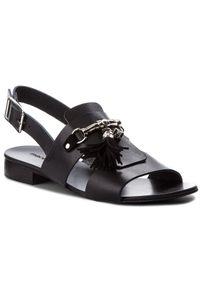 Czarne sandały Maccioni z aplikacjami