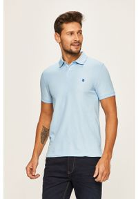 Niebieska koszulka polo Izod polo, krótka