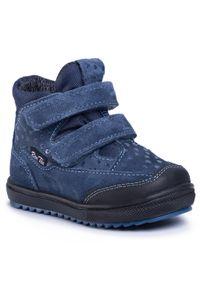 RenBut - Trzewiki RENBUT - 13-1539 Jeans Serca. Okazja: na spacer. Kolor: niebieski. Materiał: skóra, zamsz. Szerokość cholewki: normalna. Sezon: zima. Styl: młodzieżowy
