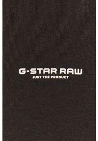 G-Star RAW - G-Star Raw - T-shirt. Kolor: czarny. Materiał: bawełna. Wzór: aplikacja