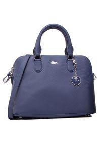 Niebieska torebka klasyczna Lacoste na ramię