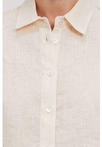 Kremowa koszula Pennyblack na co dzień, gładkie, casualowa