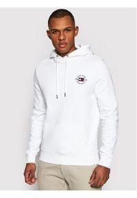 TOMMY HILFIGER - Tommy Hilfiger Bluza Circle Chest Corp MW0MW18368 Biały Regular Fit. Kolor: biały