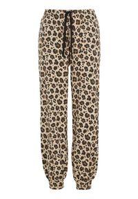 Beżowe spodnie Cellbes z motywem zwierzęcym