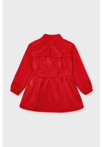 Czerwony płaszcz Mayoral gładki, casualowy, na co dzień #3
