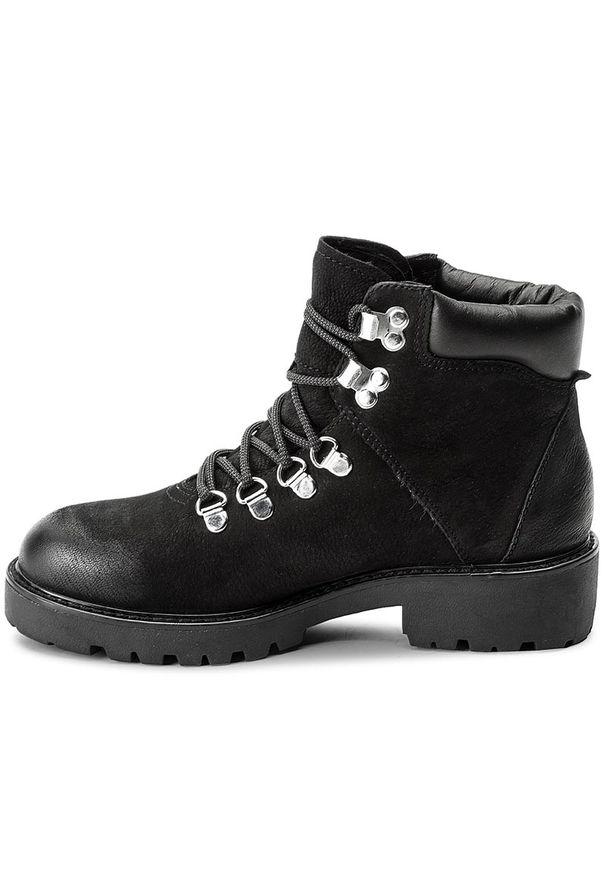 Czarne buty trekkingowe vagabond z cholewką
