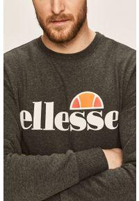 Szara bluza nierozpinana Ellesse casualowa, na co dzień, z okrągłym kołnierzem, z nadrukiem