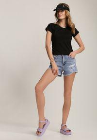 Renee - Czarny T-shirt Nephegenia. Kolor: czarny
