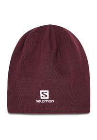 Czerwona czapka zimowa salomon
