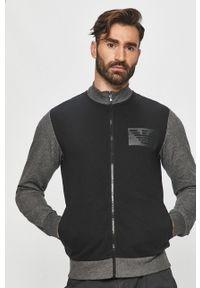 Czarna bluza rozpinana Emporio Armani na co dzień, z nadrukiem