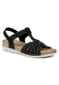 Czarne sandały Inblu casualowe, z aplikacjami