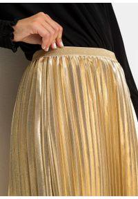 Złota spódnica bonprix długa