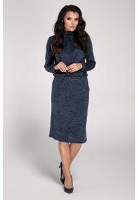 Niebieska sukienka dzianinowa Nommo mini