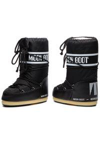 Moon Boot - Śniegowce MOON BOOT - Nylon 14004400001 M Nero. Zapięcie: sznurówki. Kolor: czarny. Materiał: skóra ekologiczna, materiał. Szerokość cholewki: normalna. Sezon: zima