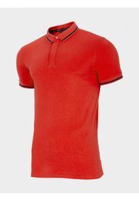 outhorn - Koszulka polo męska. Typ kołnierza: polo. Materiał: bawełna, jersey. Długość rękawa: krótki rękaw
