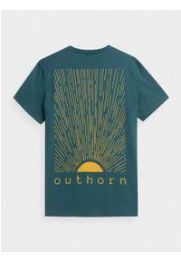 outhorn - T-shirt z nadrukiem męski. Materiał: bawełna, materiał. Wzór: nadruk. Styl: sportowy