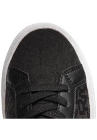 Sneakersy DKNY - Court K2047881 Black. Zapięcie: sznurówki. Kolor: czarny. Materiał: skóra, materiał. Szerokość cholewki: normalna. Wzór: gładki. Styl: elegancki