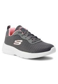 Szare buty do fitnessu skechers z cholewką, na co dzień
