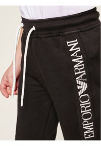 Emporio Armani Spodnie dresowe 6G4PJ8 3J2VZ 0999 Czarny Regular Fit. Kolor: czarny. Materiał: dresówka
