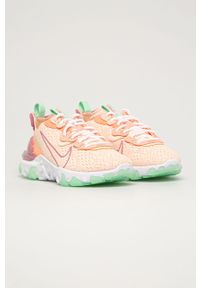 Różowe buty sportowe Nike Sportswear na sznurówki, z okrągłym noskiem