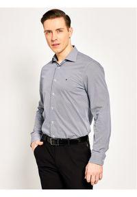 Szara koszula biznesowa TOMMY HILFIGER z nadrukiem
