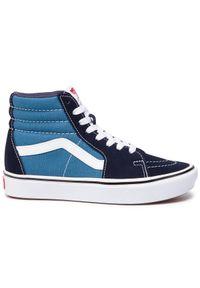 Niebieskie sneakersy Vans Vans Classic, na co dzień, z cholewką