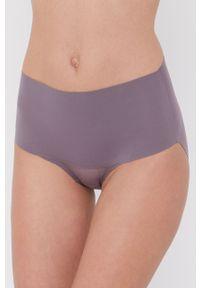 Spanx - Figi modelujące. Kolor: fioletowy. Materiał: tkanina, materiał. Wzór: gładki