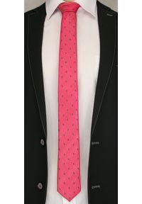 Czerwony krawat Angelo di Monti paisley, elegancki