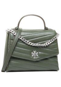 Zielona torebka klasyczna Tory Burch