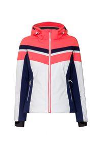 Różowa kurtka narciarska Descente krótka