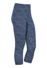 Cellbes Wzorzyste legginsy 3/4 niebieski w kratkę female niebieski/ze wzorem 62/64. Kolor: niebieski. Materiał: wiskoza, włókno, guma. Wzór: kratka