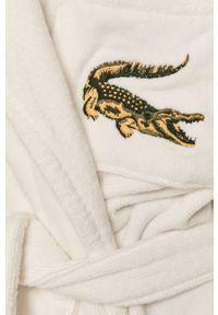 Biały szlafrok Lacoste gładki