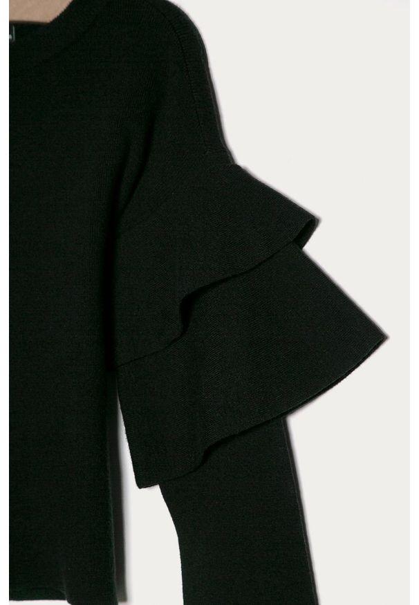 Czarny sweter LMTD na co dzień, casualowy, z okrągłym kołnierzem