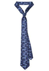 Niebieski krawat Lancerto elegancki, w kwiaty