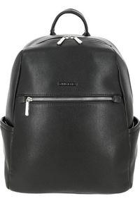 DAVID JONES - Plecak damski czarny David Jones 806605 BLACK. Kolor: czarny. Materiał: skóra ekologiczna. Styl: klasyczny