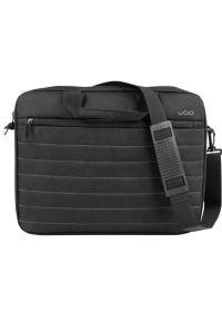 Czarna torba na laptopa UGO klasyczna, w kolorowe wzory
