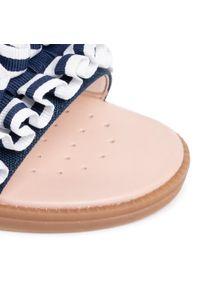 Niebieskie sandały Geox z aplikacjami, na lato