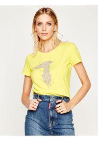 Żółty t-shirt Trussardi Jeans