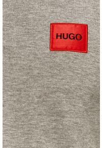 Szara koszulka polo Hugo krótka, gładkie