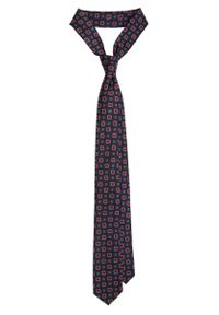 Niebieski krawat Lancerto w geometryczne wzory, klasyczny